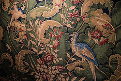 Emroidered tapestry.