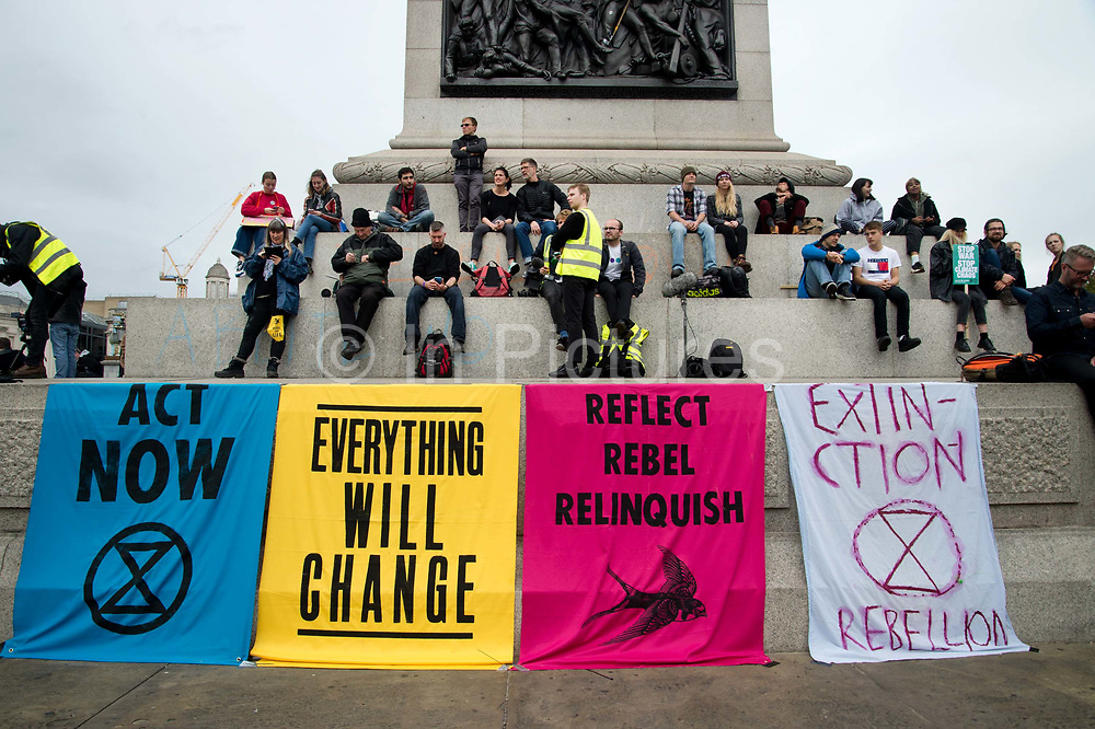 Extinction Rebellion, Central London, October 7th 2019, part of world wide protests to draw attention to the climate emergency.