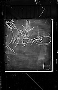 """Hammersmith  Great Britain.<br /> """"Wind patterns"""" drawn on a Black Board, on the door of the London Corinthians Sailing Club. <br /> Round and About - Sons Of the Thames RC<br /> <br /> Saturday  23/04/2016<br /> <br /> [Mandatory Credit; Peter Spurrier/Intersport-images]"""