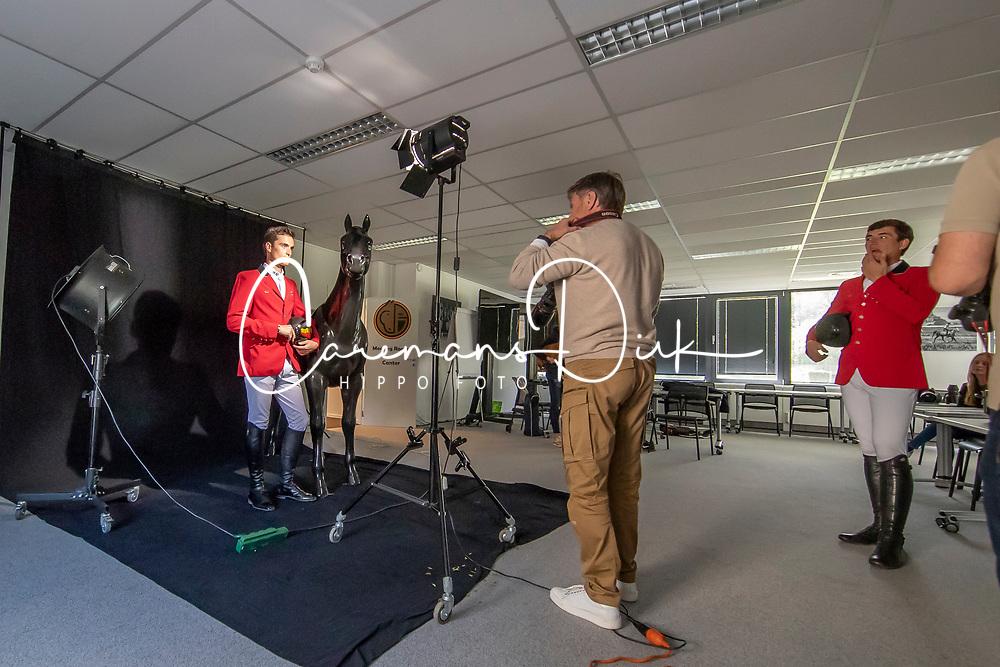 Henk van Cauwenbergh, Olivier Philippaerts<br /> Foto shoot met Henk van Cauwenbergh voor KBRSF - Zaventem 2018<br /> © Hippo Foto - Dirk Caremans<br /> 01/05/2018