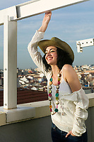 06/Junio/2006 Madrid<br /> Retrato de Loreta Saez, presentadora de Gameworks.<br /> <br /> © JOAN COSTA