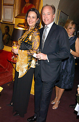 HARRY and DALIT NUTTALL at a dinner hosted by Stratis & Maria Hatzistefanis at Annabel's, Berkeley Square, London on 24th March 2006 following the christening of their son earlier in the day.<br /><br />NON EXCLUSIVE - WORLD RIGHTS