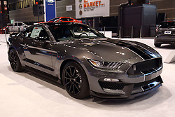 09 February 2017: 2017 Ford Mustang Gt350 <br /> <br /> First staged in 1901, the Chicago Auto Show is the largest auto show in North America and has been held more times than any other auto exposition on the continent.  It has been  presented by the Chicago Automobile Trade Association (CATA) since 1935.  It is held at McCormick Place, Chicago Illinois<br /> #CAS17