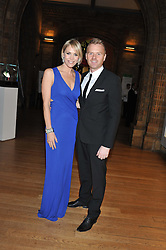 JENNI FALCONER and JAMES MIDGLEY at the annual Chain of Hope's annual Gala Ball held at the Natural History Museum, London on 8th November 2012.