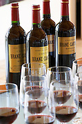 Wine tasting. Wine glasses. Chateau Brane Cantenac, Margaux, Medoc, bordeaux, France