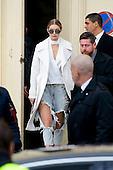 Gigi Hadid Leaves Chanel Fashion Show