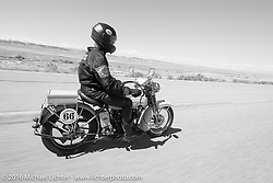 Tom Hayes (Ireland) riding his 1923 Harley-Davidson F during stage 11 (289 miles) of the Motorcycle Cannonball Cross-Country Endurance Run, which on this day ran from Grand Junction, CO to Springville, UT., USA. Tuesday, September 16, 2014.  Photography ©2014 Michael Lichter.