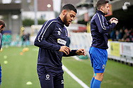 AFC Wimbledon forward Jake Jervis (10) warming up before the EFL Sky Bet League 1 match between AFC Wimbledon and Plymouth Argyle at the Cherry Red Records Stadium, Kingston, England on 26 December 2018.
