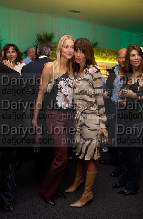 Lisa B and Heidi  ( Mrs. Seb) Bishop. Party given by California Wine to celebrate wines from the Golden state,  hosted by Natasha McElhone, Emily Oppenheimer and Dr. Martin Kelly at the old Saatchi Gallery, 8 October 2003. © Copyright Photograph by Dafydd Jones 66 Stockwell Park Rd. London SW9 0DA Tel 020 7733 0108 www.dafjones.com