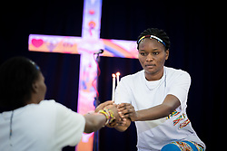 """13 March 2018, Arusha, Tanzania: Morning prayers. From 8-13 March 2018, the World Council of Churches organizes the Conference on World Mission and Evangelism in Arusha, Tanzania. The conference is themed """"Moving in the Spirit: Called to Transforming Discipleship"""", and is part of a long tradition of similar conferences, organized every decade."""