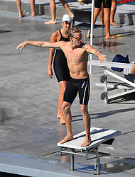 ** PREMIUM EXCLUSIVE RATES APPLY ** Cody Simpson, Miley Cyrus' latest boyfriend, swims with his USC swim team. 05 Oct 2019 Pictured: Cody Simpson. Photo credit: Snorlax / MEGA TheMegaAgency.com +1 888 505 6342