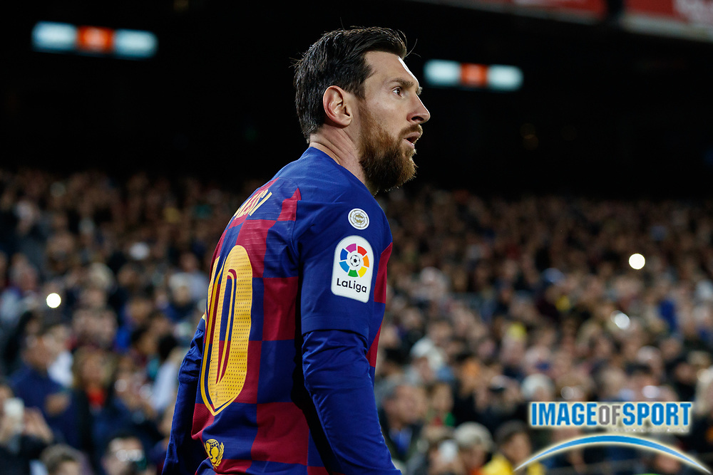 Leo Messi of FC Barcelona during the Liga match between FC Barcelona and Real Sociedad at Camp Nou, Saturday, March 7, 2020, in Barcelona, Spain. (ESPA-Images/Image of Sport)