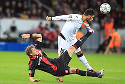 19.10.2011, BayArena, Leverkusen, GER, UEFA CL, Gruppe E, Bayer Leverkusen (GER) vs Valencia CF (ESP), im Bild.Stefan Kiessling (Leverkusen #11) gegen Victor Ruiz (Valencia #18)..// during the UEFA CL, group E, Bayer 04 Leverkusen (GER) vs Valencia CF (ESP) on 2011/10/19, at BayArena, Leverkusen, Germany. EXPA Pictures © 2011, PhotoCredit: EXPA/ nph/  Mueller       ****** out of GER / CRO  / BEL ******