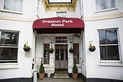© Licensed to London News Pictures. 24/03/2017. Brighton, UK. The Preston Park Hotel in Brighton where the London Parliament attacker Khalid Masson Stayed during the night before driving down to london and killing 5 people including PC Keith Palmer and injuring dozens of members of the public on London's Westminster Bridge and outside the Palace of Westminster. Photo credit: Hugo Michiels/LNP