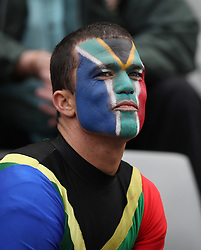 General views of a fan during the Castle Lager Rugby Championship test match between South Africa and New Zealand held at Kings Park stadium in Durban on the 8th October 2016<br /> <br /> Photo by:  RealTime Images