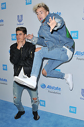 (L-R) Jack and Jack - Jack Gilinsky and Jack Johnson arrives at We Day California 2017 held at The Forum in Inglewood, CA on Thursday, April 27, 2017. (Photo By Sthanlee B. Mirador) *** Please Use Credit from Credit Field ***