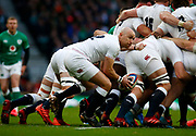 Willi Heienz of England  during the Guinness Six Nations between England and Ireland at Twickenham  Stadium, Sunday, Feb. 23, 2020, in London, United Kingdom. (ESPA-Images/Image of Sport)