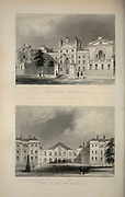 London Middlesex hospital (top) and Foundling Hospital From the book Illustrated London, or a series of views in the British metropolis and its vicinity, engraved by Albert Henry Payne, from original drawings. The historical, topographical and miscellanious notices by Bicknell, W. I; Payne, A. H. (Albert Henry), 1812-1902 Published in London in 1846 by E.T. Brain & Co