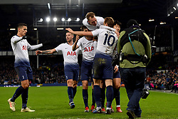 December 23, 2018 - Liverpool, Liverpool, United Kingdom - Tottenham Hotspur's Harry Kane celebrates scoring his side's sixth goal of the game during the Premier League match at Goodison Park, Liverpool, UK.  Everton v Tottenham Hotspur - Premier League - Goodison Park. Goodison Park. (Credit Image: © Anthony Devlin/i-Images via ZUMA Press)