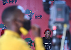 South Africa - Johannesburg - 26 October 2020 - The Economic Freedom Fighters (EFF) leader Julius Malema flanked by EFF deputy president Floyd Shivambu briefs the media during press briefing in Braamfontein. Picture: Itumeleng English/African News Agency(ANA)