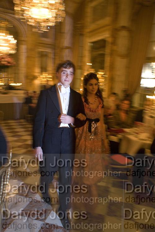 OCTAVIAN DONNELY AND COSIMA RAMIREZ RUIZ DE LA PRADA, Crillon Debutante Ball 2007,  Crillon Hotel Paris. 24 November 2007. -DO NOT ARCHIVE-© Copyright Photograph by Dafydd Jones. 248 Clapham Rd. London SW9 0PZ. Tel 0207 820 0771. www.dafjones.com.