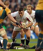 2005 Rugby, Investec Challenge, England vs Australia, Andrew Sheriden left and Matt Dawson look for the gap.  RFU Twickenham, ENGLAND:     12.11.2005   © Peter Spurrier/Intersport Images - email images@intersport-images..