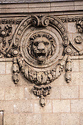 Lions head detail on the Peoples Gas building in Chicago USA