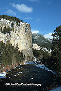 65195-036.17 Gallatin river in winter near Big Sky  MT