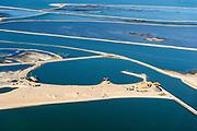 Nederland, Flevoland, Houtribdijk, 07-05-2018; Marker Wadden. Naast het hoofdeiland is er inmiddels een tweede eiland in wording, de uiteindelijk Marker Wadden archipel zal uit vijf eilanden bestaan. Haven.<br /> Doel van het project van Natuurmonumenten en Rijkswaterstaat is herstel van de ecologie in het gebied, met name de kwaliteit van bodem en water.<br /> Marker Wadden first phase of the construction, the main island, is finished. The aim of the project is to restore the ecology in the area, in particular the quality of soil and water.<br /> luchtfoto (toeslag op standard tarieven);<br /> aerial photo (additional fee required);<br /> copyright foto/photo Siebe Swart