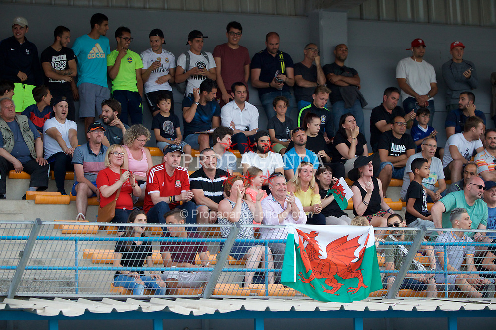AUBAGNE, FRANCE - Tuesday, May 30, 2017: Wales supporters during the Toulon Tournament Group B match between Wales U20 and France U20 at the Stade de Lattre-de-Tassigny. (Pic by David Rawcliffe/Propaganda)