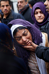 © licensed to London News Pictures. London, UK 26/12/2013. Fatima Khan, mother of British doctor Abbas Khan who died in custody in Syria, mourning after her son's funeral at Regent's Park Mosque in London on Thursday, 26 December, 2013. Photo credit: Tolga Akmen/LNP