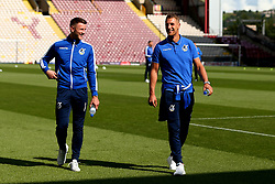Lee Brown of Bristol Rovers and Ollie Clarke of Bristol Rovers arrive at The Northern Commercials Stadium (Valley Parade), home of Bradford City - Mandatory by-line: Robbie Stephenson/JMP - 02/09/2017 - FOOTBALL - Northern Commercials Stadium - Bradford, England - Bradford City v Bristol Rovers - Sky Bet League One