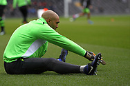 Carl Ikeme of Wolverhampton Wanderers during the Sky Bet Championship match at Craven Cottage, London<br /> Picture by Richard Brooks/Focus Images Ltd 07947656233<br /> 18/03/2017