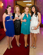 Aisling , Emma  and Lucy Kilbane,  from Mervue and Sinead Kirrane  Claregalway, at the Take Me Out for Cancer Care West in the Sathill Hotel, Galway . Photo:Andrew Downes.