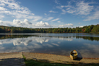 A splendid fall day on Saltmarsh Pond as summer-like temperatures continue throughout the Lakes Region.  (Karen Bobotas/for the Laconia Daily Sun)