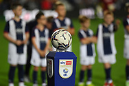 Tonights match ball in front of the mascots during the EFL Sky Bet Championship match between West Bromwich Albion and Queens Park Rangers at The Hawthorns, West Bromwich, England on 24 September 2021.