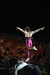 Hannah Eccles, (GBR), WH Bentley, John Eccles - Individuals Women Final Vaulting - Alltech FEI World Equestrian Games™ 2014 - Normandy, France.<br /> © Hippo Foto Team - Jon Stroud<br /> 05/09/2014