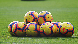 October 28, 2018 - London, England, United Kingdom - London, England - October 28, 2018.Winter match balls.during Premier League between Crystal Palace and Arsenal at Selhurst Park stadium , London, England on 28 Oct 2018. (Credit Image: © Action Foto Sport/NurPhoto via ZUMA Press)