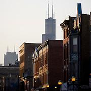 Wicker Park Neighborhood in Chicago at Milwaukee Avenue