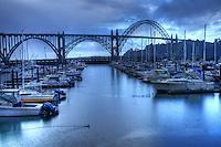 Yaquina Bay Bridge, Newport, Oregon, USA