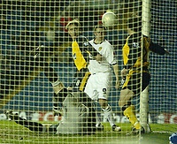 Photo: Aidan Ellis.<br /> Leeds United v Wigan Athletic. The FA Cup. 17/01/2006.<br /> Leeds David Healy scores the equaliser