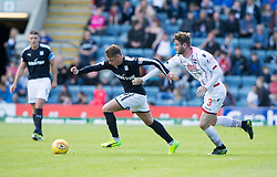 Dundee's Scott Allan and Ross County's Jason Naismith.Dundee 1 v 2 Ross County, Scottish Premiership game played 5/8/2017 at Dundee's home ground Dens Park.