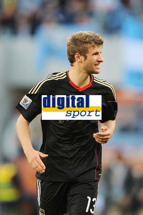 FOOTBALL - FIFA WORLD CUP 2010 - 1/4 FINAL - ARGENTINA v GERMANY - 3/07/2010 - PHOTO FRANCK FAUGERE / DPPI - THOMAS MULLER (GER)