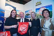 NO FEE PICTURES<br /> 23/1/16 Minister for Tourism Michael Ring and Maureen Ledwith, organiser of the Holiday World Show at the Ring of Cork stand at the Holiday World Show at the RDS in Dublin. Picture: Arthur Carron