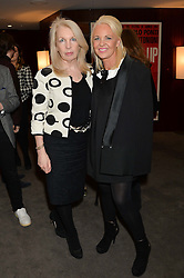 """Left to right, director of the British Film Institute AMANDA NEVILL and AMANDA ELIASCH at a private screening Of """"The Gun, The Cake and The Butterfly"""" hosted by Amanda Eliasch at The Bulgari Hotel, 171 Knightsbridge, London on 24th March 2014."""