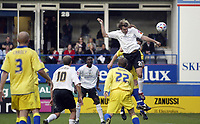 Photo: Marc Atkins.<br /><br />Luton Town v Leeds United. Coca Cola Championship. 21/10/2006. Markus Heikkenen scores for Luton.