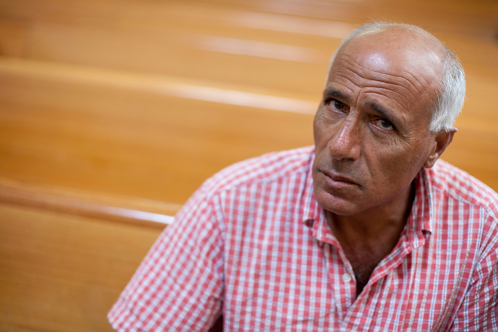 Israeli nuclear whistleblower Mordechai Vanunu is seen at the courtroom of the Supreme Court in Jerusalem, on October 11, 2010. Vanunu, a former technician at the atomic reactor in Dimona who was jailed in 1986 for describing Israel's nuclear capabilities to Britain's Sunday Times newspaper, petitions against a warrant preventing him from leaving Israel.