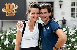 Andreja Okorn and Marija Sestak during Opening ceremony of photo exhibition at 100 years Anniversary of Slovenian Athletic Federation, on September 17, 2020 in Tivoli park, Jakopicevo sprehajalisce, Ljubljana, Slovenia. Photo by Vid Ponikvar / Sportida