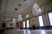 Ballroom with chandeliers, Guildhall, Bath