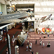 Displays inside the Smithsonian's National Air and Space Museum in Washington, DC